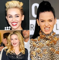 Miley Cyrus Katy Perry Madonna Dental Grillz 200x203 5 Ways Cosmetic Dentistry Can Have You Smiling Like a Celebrity